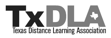 Logo for Texas Distance Learning Assocation